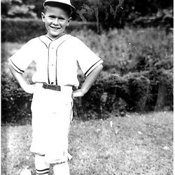 HS482     George W. Bush, age 8,  in Little League Baseball uniform, Spring 1954.<br /> Photo Credit:  George Bush Presidential Library