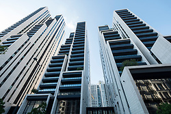 Modern high rise luxury apartment buildings , Beirut 1, 2, 3 in central Beirut , Lebanon.