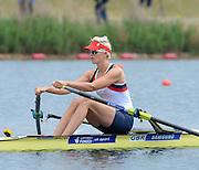 Eton Dorney, United Kingdom,  GBR W1X, Victoria THORNLEY,  Eton Rowing Centre. FISA World Cup II, Dorney Lake. Friday  21/06/2013 Berkshire.  [Mandatory Credit Peter Spurrier/ Intersport Images]