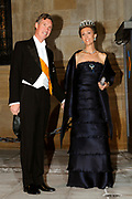 Gala dinner on the occasion of the civil wedding of Grand Duke Guillaume and Princess Stephanie at the Grand-Ducal palace in Luxembourg <br /> <br /> On the photo: Prince Guillaume of Luxembourg with wife Princess Sibilla
