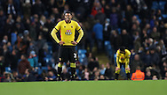 Etienne Capoue of Watford dejected after Manchester City score the second goal during the English Premier League match at The Etihad Stadium, Manchester. Picture date: December 12th, 2016. Photo credit should read: Lynne Cameron/Sportimage