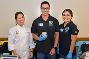 "WON BOK<br /> Curator: Jensen Uyeda, CTAHR<br /> Chef: Lauren Tamamoto, Kapiolani Community College Culinary Innovation Center<br /> Recently Jensen has focused his variety evaluation work on Napa cabbage (won bok) with production reported as the second highest producing crop in the State. He looks to find varieties that produce faster, have tolerances to diseases and heat as well as reduced incidences of ""pepper spotting"". He has evaluated over 20 commercially available varieties and continuously includes new varieties as they become available. He has also collaborated with Dr. Lauren Tamamoto at the Kapiolani Community College Culinary Innovation Center to develop creative ways to add value to commodities such as won bok."