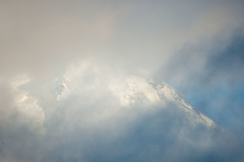 Mt. Adams Through the Clouds, Gifford Pinchot National Forest, Washington, US