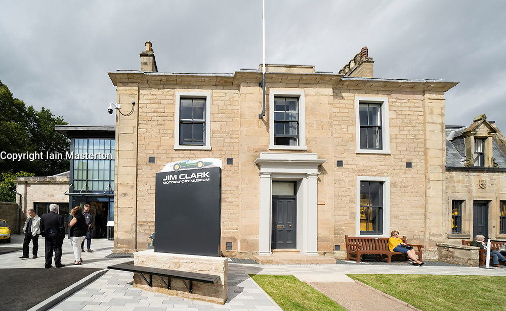 Official opening day of new Jim Clark Motorsport Museum in Duns, Scotland, UK