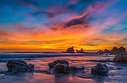 Cameo Shores Beach at Dusk in Corona Del Mar California