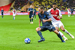 November 6, 2018 - Monaco, France - Mats Rits (Club Bruges) - Nacer Chadli  (Credit Image: © Panoramic via ZUMA Press)
