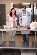 Sarah Masoni and Jason Bell of the Food Innovation Center help entrepreneurs bring their food products to the market.