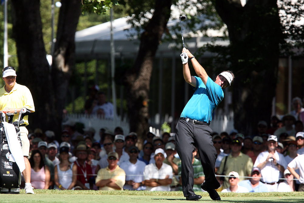 10 August 2007: Phil Mickelson tees off on the 18th hole during the second round of the 89th PGA Championship at Southern Hills Country Club in Tulsa, OK.