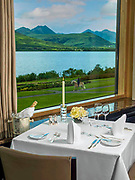 The Panorama restaurant overlooking Lough lein and The McGillycuddy Reeks Mountains in Killarney, County Kerry, Ireland.<br /> Picture by Don MacMonagle -macmonagle.com