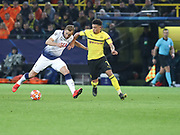 Harry Kane of Tottenham Hotspur against Jadon Sancho of Borussia Dortmund during  the Champions League round of 16, leg 2 of 2 match between Borussia Dortmund and Tottenham Hotspur at Signal Iduna Park, Dortmund, Germany on 5 March 2019.