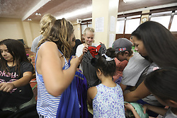 July 30, 2018 - Toronto, ON, Canada - TORONTO, ON - July 30:  - Kids pick out costumes for  rehearsal at Great Big Theatre Company, a non-profit organization promoting drama education for young people. July 30, 2018. Randy Risling/Toronto Star (Credit Image: © Randy Risling/The Toronto Star via ZUMA Wire)