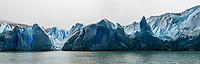 The fragmented peaks & layers of the Glacier Grey in Torres del Paine National Park, Chile.