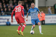 Lewis Alessandra (Hartlepool United) during the EFL Sky Bet League 2 match between Hartlepool United and Carlisle United at Victoria Park, Hartlepool, England on 14 April 2017. Photo by Mark P Doherty.