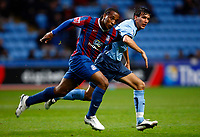 Football<br /> Neil Danns of Crystal Palace Jack Cork of Coventry City (on loan from Chelsea)<br /> Coca-Cola Championship<br /> Coventry City v Crystal Palace at Ricoh Arena<br /> 21/11/2009 Credit Colorsport / Kieran Galvin