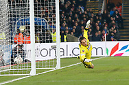 Grimsby Town goalkeeper James McKeown (1) makes a save during the The FA Cup 3rd round match between Crystal Palace and Grimsby Town FC at Selhurst Park, London, England on 5 January 2019.