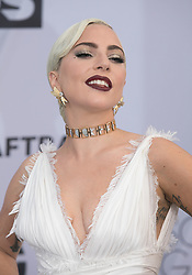 January 27, 2019 - Los Angeles, California, U.S - Lady Gaga at the red carpet of the 25th Annual Screen Actors Guild Awards held at the Shrine Auditorium in Los Angeles, California, Sunday January 27, 2019. JAVIER ROJAS/PI (Credit Image: © Prensa Internacional via ZUMA Wire)