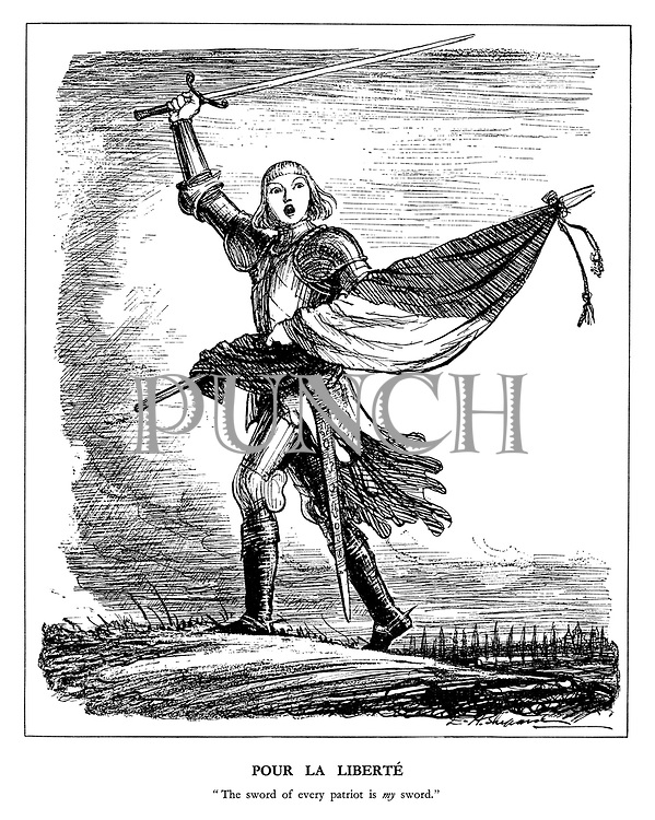 "Pour la Liberte. ""The sword of every patriot is my sword."""
