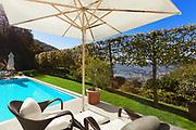 Modern house, beautiful patio with pool