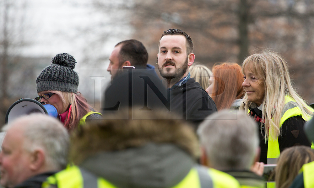 © Licensed to London News Pictures. 05/01/2019. London, UK. JAMES GODDARD attends a Yellow Vest demonstration in Westminster, London on December 5, 2019. Godard has been accused of verbally abusing Conservative MP Anna Soubry. Photo credit:  George Cracknell/LNP
