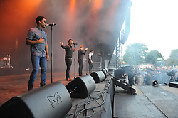 © Licensed to London News Pictures. 16/07/2015<br /> Rochester Castle Concerts,Rochester,Kent<br /> blue singing.<br /> (Byline:Grant Falvey/LNP)
