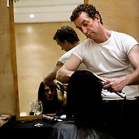 The Netherlands, Amsterdam, 07-03-2009.<br /> Fashion, Haute Couture, Mart Visser.<br /> Behind the catwalk during the presentation of the spring and summer collection of couturier Mart Visser in the Amsterdam Hilton Hotel.<br /> Photo: Klaas Jan van der Weij.