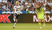 Fotball , 1. august 2018 , Qual Champions League , Rosenborg - Celtic<br /> <br /> Birger Meling , RBK<br /> James Forrest , Celtic