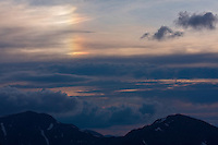 Optical phenomenon and sunset clouds above the Western Tatras, Slovakia. June 2009. Mission: Ticha