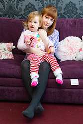 Jemma Llewellyn, 22, and daughter Nirvana, 2. Jemma has waived her right to anonymity, has been successful in the prosecution of her uncle Richard Wallace 36 after he sexually assaulted her while she was seven months pregnant, asleep on her mother's sofa. Southend-On-Sea, March 29 2019.