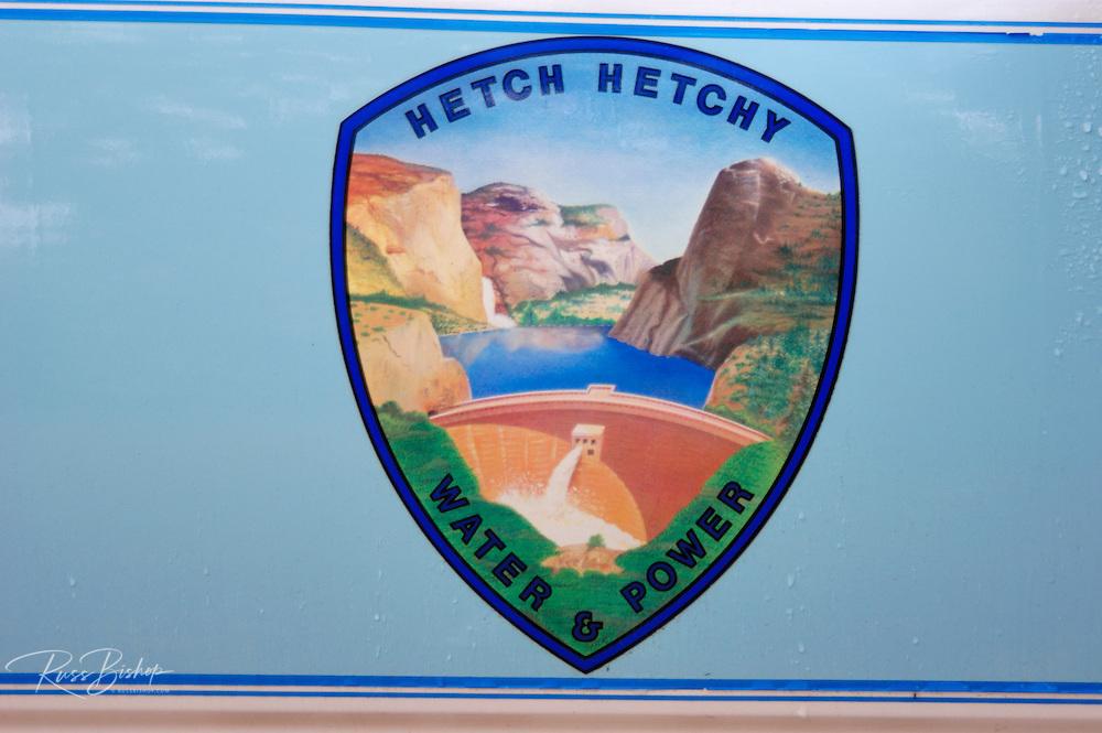 The Hetch Hetchy Water & Power logo, Yosemite National Park, California