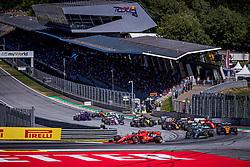 30.06.2019, Red Bull Ring, Spielberg, AUT, FIA, Formel 1, Grosser Preis von Österreich, Rennen, im Bild v.l.: Charles Leclerc (MON, Scuderia Ferrari), Valtteri Bottas (FIN, Mercedes) // f.l.: Monaco Formula One driver Charles Leclerc of Sauber Finnish Formula One driver Valtteri Bottas of Mercedes during the race for the Austrian FIA Formula One Grand Prix at the Red Bull Ring in Spielberg, Austria on 2019/06/30. EXPA Pictures © 2019, PhotoCredit: EXPA/ Dominik Angerer