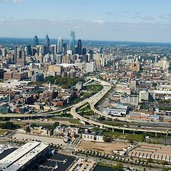 Aerial view of Northern liberties neighborhood of philadelphia PA