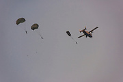 Paratrooper<br /> Military parachutists<br /> Georgetown<br /> GUYANA<br /> South America