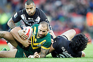 Australia's Blake Ferguson during the Ladbrokes Four Nations match between Australia and New Zealand at Anfield, Liverpool, England on 20 November 2016. Photo by Craig Galloway.