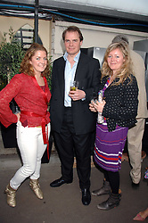 Left to right, VINNIE DAY, DUNCAN GORDON and CATHERINE CAZALET at a party for the Royal Marsden Hospital held at the Chelsea Gardener, Sydney Street, London on 6th May 2008.<br /><br />NON EXCLUSIVE - WORLD RIGHTS