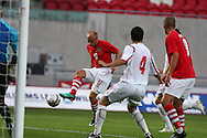 David Cotterill of Wales scores the 1st goal .  friendly international match, Wales v Luxembourg at the Parc y Scarlets stadium in  Llanelli on Wed 11th August 2010. pic by Andrew Orchard, Andrew Orchard sports photography,