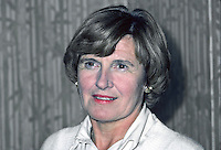 Mrs Hazel Bradford, prominent member, Ulster Unionist Party, N Ireland, UK, wife, Roy Bradford, sometime Stormont Parliament MP & Minister, 198010000333a.<br /> <br /> Copyright Image from Victor Patterson,<br /> 54 Dorchester Park, Belfast, UK, BT9 6RJ<br /> <br /> t1: +44 28 90661296<br /> t2: +44 28 90022446<br /> m: +44 7802 353836<br /> <br /> e1: victorpatterson@me.com<br /> e2: victorpatterson@gmail.com<br /> <br /> For my Terms and Conditions of Use go to<br /> www.victorpatterson.com