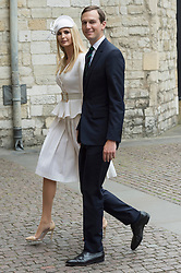 © Licensed to London News Pictures. 03/06/2019. London, UK. Ivanka Trump and  Jared Kushner visit Westminster Abbey on the first day of a three day state visit to the UK. Photo credit: Ray Tang/LNP