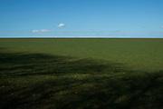Green field landscape Isle of Wight, UK.