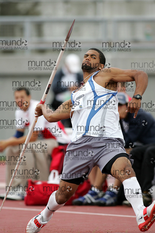 (Sherbrooke, Canada---23 July 2006) Curtis Moss competing in the javelin final at  the 2006 Canadian Junior Track and Field Championships and national multi-events championships 21-23 July 2006 held in Sherbrooke Quebec. Copyright 2006 Sean Burges / Mundo Sport Images, www.mundosportimages.com
