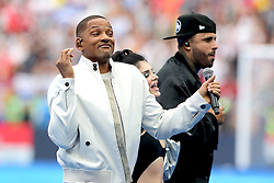 Will Smith performs at the closing ceremony during the FIFA World Cup Final at the Luzhniki Stadium, Moscow.