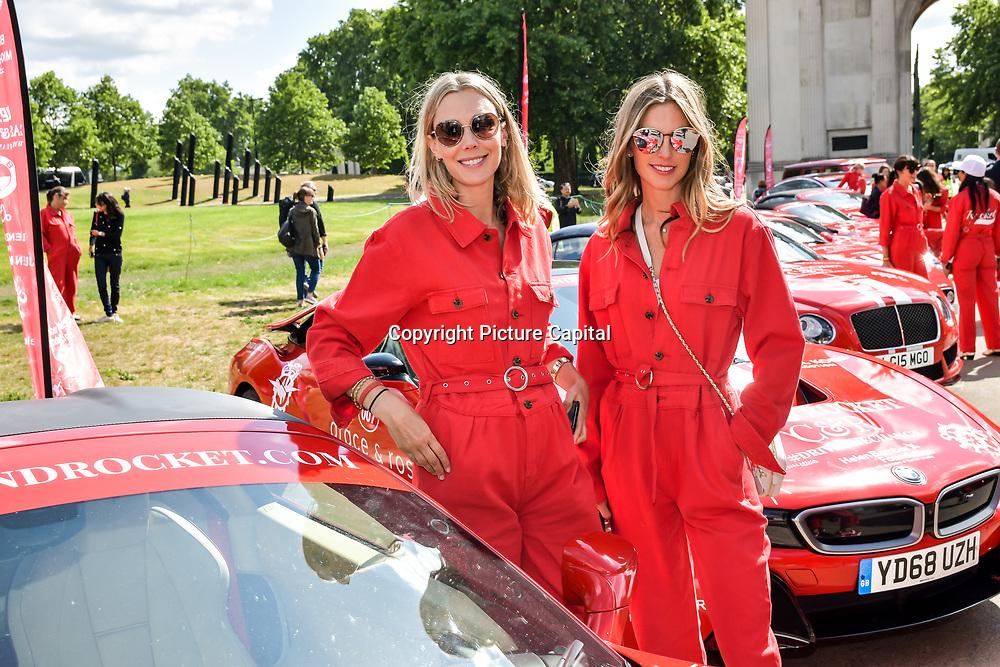 Celebs attend Cash & Rocket Photocall at Wellington Arch, on 6 June 2019, London, UK