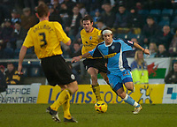 Photo: Alan Crowhurst.<br />Wycombe Wanderers v Rochdale. Coca Cola League 2.<br />10/12/2005. <br />Sergio Torres (R) attacks for Wycombe.