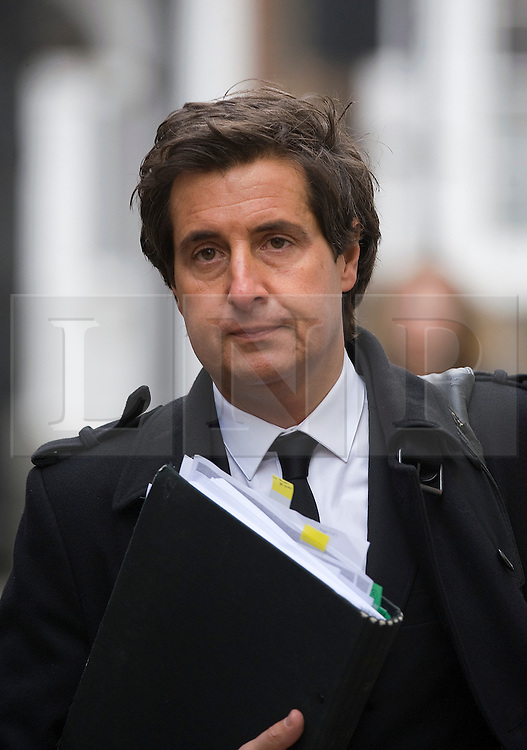 © London News Pictures. FILE PICTURE DATED  16/11/2011. London, UK.  David Sherborne, counsel for victims of phone hacking, who is reported to be in a relationship with Leveson Inquiry Lawyer, Carine Patry Hoskins. Pictured arriving at the Royal Courts of Justice for the Leveson Inquiry on 21/11/2011. Photo credit : Ben Cawthra/LNP