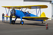 Running up the Stearman 70, prototype for the famous PT-13 and PT-17.