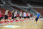 Danzica - Polonia 03 Agosto 2012 - Nazionale Italia Maschile Allenamento - <br /> Nella Foto : TEAM ITALIA<br /> Foto Ciamillo