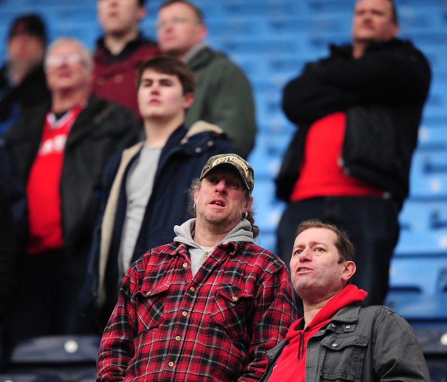 Fleetwood Town fans during the first half<br /> <br /> Photographer Chris Vaughan/CameraSport<br /> <br /> Football - The Football League Sky Bet League One - Coventry City v Fleetwood Town - Saturday 27th February 2016 - Ricoh Stadium - Coventry   <br /> <br /> © CameraSport - 43 Linden Ave. Countesthorpe. Leicester. England. LE8 5PG - Tel: +44 (0) 116 277 4147 - admin@camerasport.com - www.camerasport.com