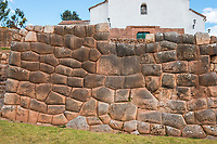 Chincheros town in the peruvian Andes at Cuzco Peru