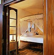 Bedroom Interior of a Sri Lankan hotel, Sri Lanka