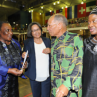 KHAYELITSHA, SOUTH AFRICA - Monday 9 December 2013, the City of Cape Town hosted an Evening of Remembrance at the OR Tambo hall, Khayelitsha. for the late former President of South Africa, Nelson Mandela. Minister of Labour, MILDRED OLIPHANT, Executive Mayor of Cape Town, PATRICIA DE LILLE, DR DON MATTERA and Deputy Minister, ZOU KOTA-FREDERICKS.<br /> Photo by Roger Sedres/ImageSA