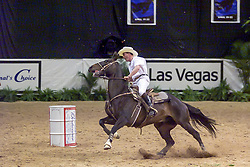Whitaker John, GBR, Barrel racing<br /> World Cup Final Jumping - Las Vegas 2000<br /> © Hippo Foto - Dirk Caremans